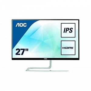 "AOC I2781FH 27"" Widescreen AH-IPS LED Black/Silver Monitor (1920x1080/4ms/VGA/2xHDMI)"