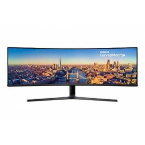 "Samsung LC49J890DKUXEN 49"" Curved Ultra Wide LED Monitor - Super UltraWide 3840 x 1080, 144Hz, HDMI, Displayport, USB-C, Speakers"
