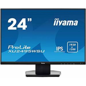 "IIYAMA XU2495WSU-B1 24"" ProLite Ultra Slim IPS LED Monitor with USB - Black"