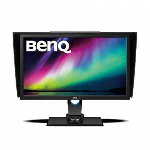 BenQ SW2700PT Photography Monitor 1440p QHD, 99 Percent Adobe RGB, 100 Percent Rec.709/sRGB Colour Space, IPS, Hardware Calibration, OSD Controller, 27 Inch - Black