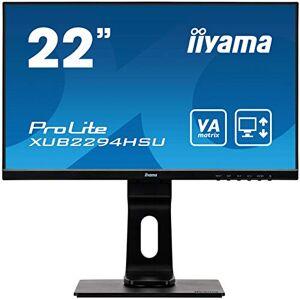 "IIYAMA XUB2294HSU-B1 22"" ProLite Height Adjustable VA Ultra Slim Monitor with USB - Black"