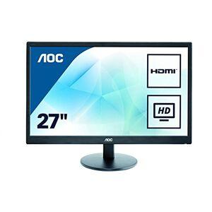 "AOC E2775SJ 27"" Widescreen TN LED Black Multimedia Monitor (1920x1080/1ms/VGA/DVI/HDMI) intergrated speakers"