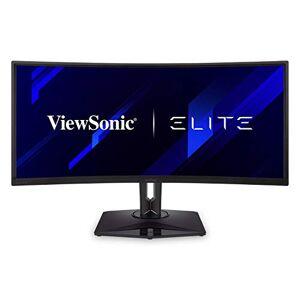 ViewSonic Elite XG350R-C 35-inch UWQHD Curved Gaming Monitor with AMD FreeSync, 100Hz, HDR10 support, DisplayPort, 2x HDMI, RGB lighting, Eye Care, Advanced Ergonomics for Esports