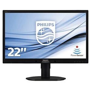 """Philips 220B4LPYCB/00 22"""" LED 1680x1050 VGA DVI Display Port Height Adjust Pivot Speakers Black"""