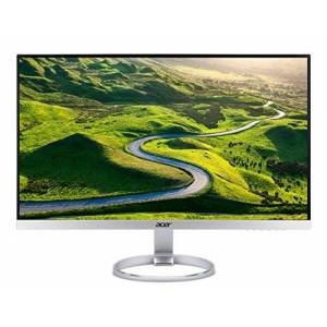 Acer H277HKsmipuz 27 inch UHD Monitor, Silver/White (IPS Panel, FreeSync, 4ms, HDR Ready, DP, HDMI, USB Type C, USB Hub)