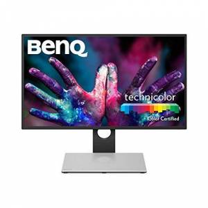 BenQ PD2710QC 27 Inch 1440p QHD Graphic Design Monitor, IPS, 100 Percent SRGB, HDMI, USB-C - Black/Silver