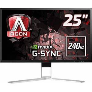"""AOC AGON AG251FG 24.5"""" FHD (1920x1080) G-Sync 240Hz 1ms Gaming monitor with Built-in speakers (HDMI, DisplayPort, USB 3.0 x 4) - Black/Red"""