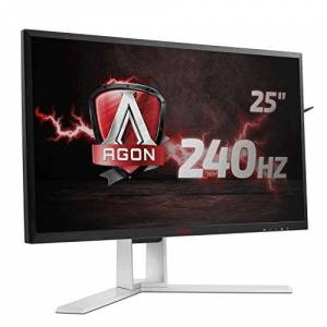"AOC AGON AG251FZ 24.5"" LED FHD (1920x1080) Freesync 240Hz 1ms Gaming monitor with Built-in Speakers (VGA, DVI, HDMI x 2, DisplayPort, USB 3.0 x 4) - Black/Red"