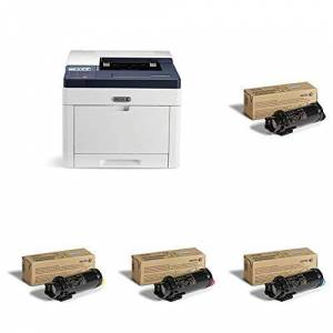 Xerox Phaser 6510dn A4 Colour LED/Laser Printer with 106R03476 Toner Cartridge, Black and 106R03477 Toner Cartridge, Cyan and 106R03478 Toner Cartridge, Magenta and 106R03479 Cartridge, Yellow