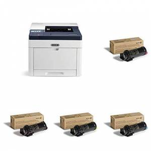 Xerox 6510dn A4 Colour LED/Laser Printer with 106R03480 Cartridge, Black and 106R03477 Cartridge and 6515, Cyan, 2,400 Page Yield and 106R03478 Cartridge, Magenta and 106R03479 Cartridge, Yellow