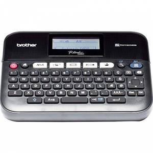 Brother PT-D450VP Label Maker, USB 2.0, P-Touch Label Printer, Desktop, QWERTY Keyboard, Up to 18 mm Labels, Includes Carry Case/AC Adapter/USB Cable/18 mm Black on White Tape Cassette