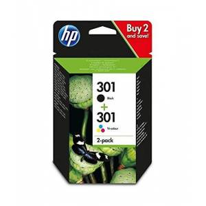 HP Pack 2 Cartouches d'encre 301 (Noir - Cyan, Magenta, Jaune)