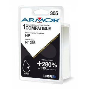 Armor Ink Cartridge Compatible with HP C9362E / K20260R1 contains 14 ml Black