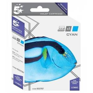 5 Star Ink Cartridge Compatible with Brother LC985C Inkjet Cartridge - Cyan