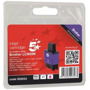 5 Star Ink Cartridge Compatible with Brother LC900M Inkjet Cartridge - Magenta