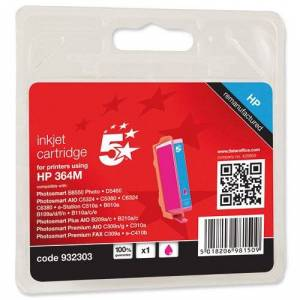 5 Star Ink Cartridge Compatible with HP No.364 for CB319EE Inkjet Cartridge - Magenta