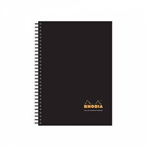 Rhodia Hardcover Wirebound Notebook, A5, Lined - Pack of 3