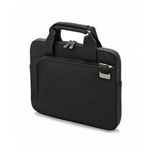 Dicota 10-11.6 Inch Smart Skin Laptop Computer and Tablet Carry Case, Lightweight Sleeve Laptop Case with Handles, Black