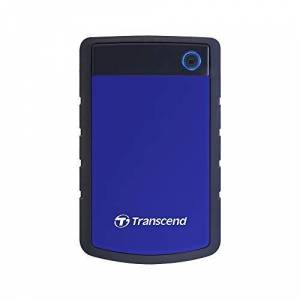 Transcend 4 TB StoreJet 25H3, 2.5 Inch, USB 3.1, Shock Resistent, Portable External Hard Drive - Blue