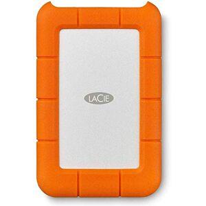 LaCie Rugged USB-C 2 TB External Hard Drive Portable HDD USB 3.0 Compatible, Drop Shock Dust Rain Resistant, for Mac & PC Computer Desktop Workstation Laptop, 1 Month Adobe CC (STFR2000800), Orange