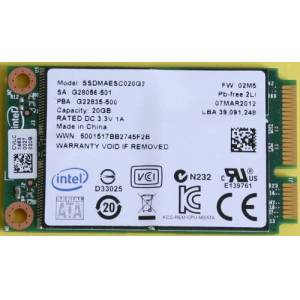 Intel SSD 311 Series 20GB 4.85mm 2.5 inch SATA 3GB/s SLC 34nm Solid State Drive