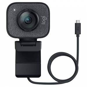 Logitech StreamCam, Live Streaming Webcam, Full 1080p HD 60fps Vertical Video, Smart auto focus and exposure, Dual camera-mount versatility, with USB-C, for YouTube, Gaming Twitch, PC/Mac - Black