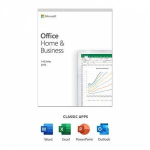 Microsoft Office 2019 Home & Business 1 user 1 PC (Windows 10) or Mac one-time purchase multilingual box