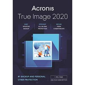 Acronis True Image 2020 Advanced Edition - 1 Computer with 250GB Cloud Storage, 1 Year Subscription