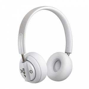 Jam Out There Active Noise Cancelling On-Ear Bluetooth Headphones, 40mm Drivers, 17 Hour Playtime, 15 Metre Range, Hands Free Calling, IPX4 Sweat and Rain Resistant, Portable Folding Ear Cups - Grey