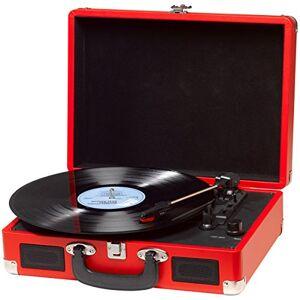 BelleVue Denver Record Player - Red
