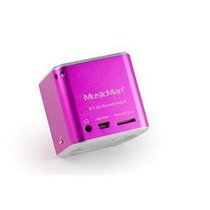 Music Man MusicMan TXX3810 Mini Wireless Soundstation BT-X2 (MP3 Player, Bluetooth) - Pink