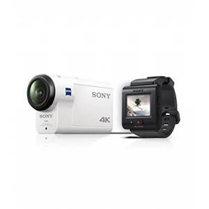 Sony FDR-X3000R 4K Action Cam with Balanced Optical SteadyShot (Carl Zeiss Vario Tessar lens, GPS, WiFi, NFC) 60m waterproof housing and new RM-LV3 Live-View Remote - White,FDRX3000R.CEN