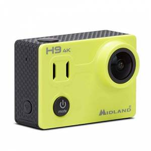 Midland H9 Action Camera - Ultra-Slim 4K Waterproof Video Camera for Vlogging, Wide-Angle, Wi-Fi