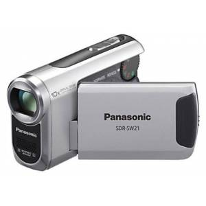 Panasonic SDR-SW21 EG-S SD Camcorder (SD/SDHC Card, 10x Opt. Zoom, 6.9 cm (2.7 inch) display, image stabiliser, waterproof to 2 m