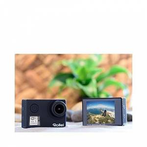 Rollei Actioncam 530 - WiFi Action Camcorder with 4k Video Resolution 30 fps, Image stabilization, up to 40 m waterproof, incl. Underwater Protection Case and Remote Control - Black