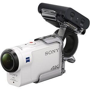 Sony FDRX3000RFDI.EU R AKA-FGP1 Ultra HD 4K Action Cam with Balanced Optical Steadyshot, New Live-View Remote and Finger Grip - White/black