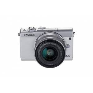 Canon EOS M100 Digital Camera Kit 24.2MP CMOS 6000 x 4000 pixels, CMOS, Full HD, Touch Screen, White