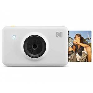 Kodak Mini Shot Wireless Instant Digital Camera & Portable Photo Printer, LCD Display, Premium Quality Full Color Prints, Compatible w/iOS & Android (White)