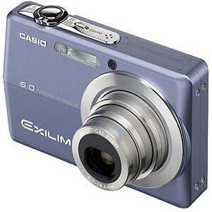 "Casio Exilim EX-Z600 Blue Digital Camera [6MP, 3 x Optical Zoom, 2.7"" LCD]"