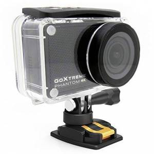 Easypix GoXtreme Phantom 4K Action Cam with Webcam Function, 170 Wide Angle, WiFi, Bluetooth, 40 m Waterproof, 20155