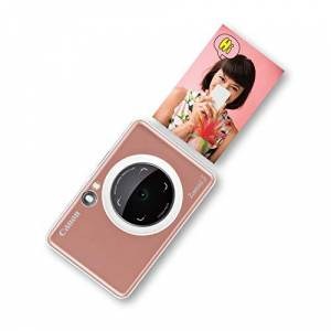 Canon Zoemini S Instant Camera & Photo Printer (Rose Gold) Pocket-sized 8-megapixel camera printer with ring-light, selfie mirror and remote shutter. Instantly print sticky-backed photos on the go