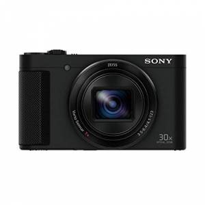 Sony DSCHX90 Digital Compact High Zoom Travel Camera with 180 Degrees Tiltable LCD Screen and View Finder (18.2 MP, 30 x Optical Zoom, Wi-Fi, NFC) - Black