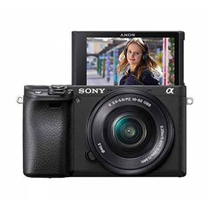 Sony 6400 E-mount compact mirrorless camera with 16-50mm Power Zoom Lens (APS-C Sensor, fast Auto Focus, Real-time Eye AF and Real-time Tracking, 4K HDR movie-shooting)