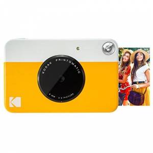 """Kodak PRINTOMATIC Digital Instant Print Camera (Yellow), Full Color Prints On ZINK 2x3"""" Sticky-Backed Photo Paper - Print Memories Instantly"""