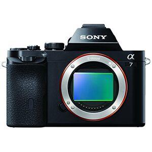 Sony ILCE7B Full Frame Compact System Camera Body (24.3 MP, 117 Points Hybrid AutoFocus, 3.0-inch Tiltable LCD, 5 fps, XGA OLED Tru-Finder) - Black