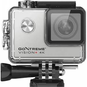 Easypix 'Vision+' 4K Ultra HD Action Cam 4K @ 30fps 2.0 Inch Touch Screen 170 Wide Angle Waterproof 30m 12MP Sensor Silver
