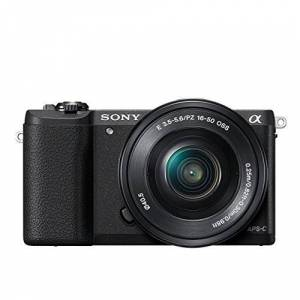 Sony ILCE5100LB.CEC Compact System Camera with 16-50 Lens (24.3 MP, 180 Degrees Tiltable LCD, Fast Hybrid Auto Focus, Noise Reduction Feature, Wi-Fi and NFC) - Black