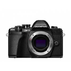 Olympus OM-D E-M10 Mark III Micro Four Thirds System Camera, 16 Megapixels, Image Stabilizer, Electronic Viewfinder, 4K Video, Black