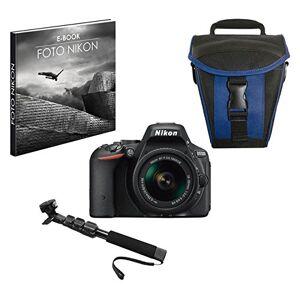 Nikon 999D5500PR1 24.2 MP Reflex Digital Camera with Case and Selfie Stick - Black