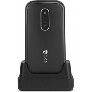 "Doro 6620 Unlocked 3G Clamshell Big Button Mobile Phone for Seniors with 2.8"" Screen, SOS Button with GPS, Talking Keys and Charging Cradle Included (Black) [UK and Irish Version]"